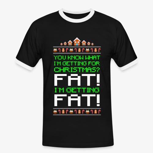 Männer Kontrast T-Shirt Getting fat Ugly Christmas - Männer Kontrast-T-Shirt
