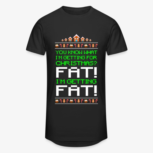 Männer Urban Longshirt Getting fat Ugly Christmas - Männer Urban Longshirt