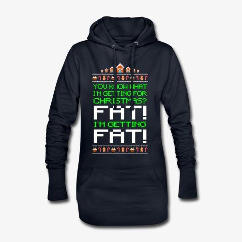 Hoodie-Kleid Getting fat Ugly Christmas - Hoodie-Kleid