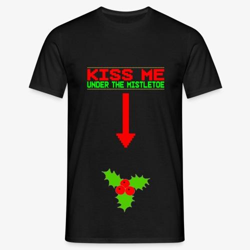 Männer T-Shirt Kiss me under the Mistletoe Ugly Christmas - Männer T-Shirt