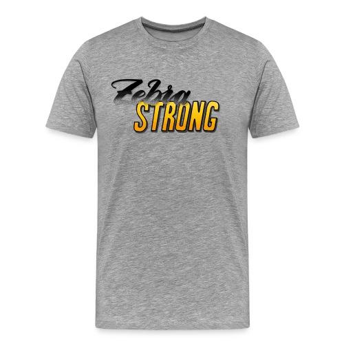 Zebra Strong – Männershirt - Männer Premium T-Shirt