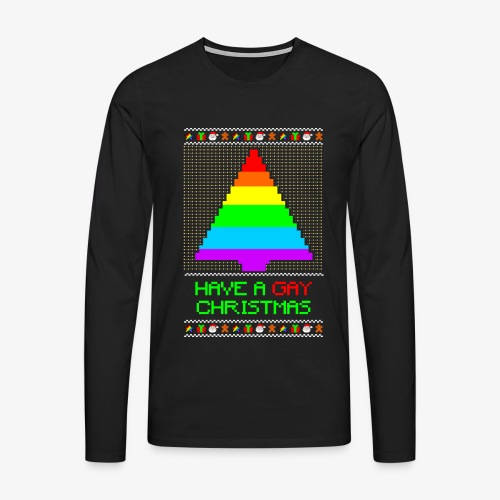 Männer Premium Langarmshirt Gay Ugly Christmas - Männer Premium Langarmshirt