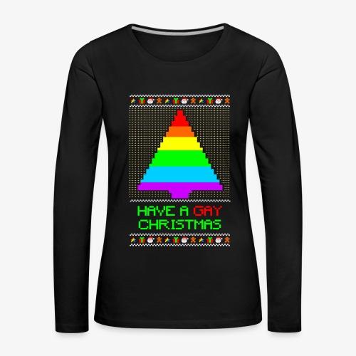 Frauen Premium Langarmshirt Gay Ugly Christmas - Frauen Premium Langarmshirt