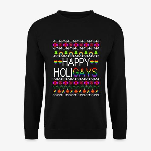 Männer Pullover Happy Holigays Ugly Xmas - Männer Pullover