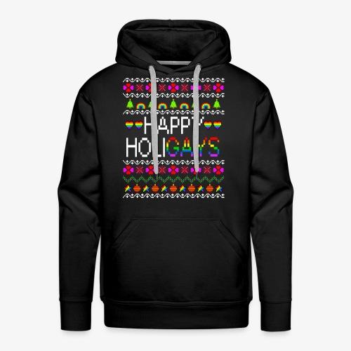 Männer Premium Hoodie Happy Holigays Ugly Xmas - Männer Premium Hoodie