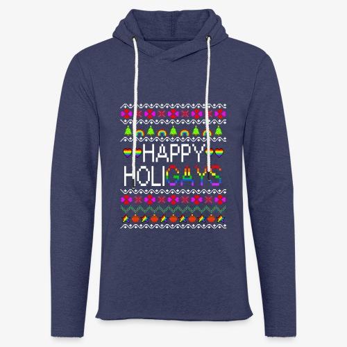 Leichtes Kapuzensweatshirt Unisex Happy Holigays Ugly Xmas - Leichtes Kapuzensweatshirt Unisex