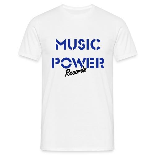 Old Skool Classic Music Power Tee White Blue Black - Men's T-Shirt