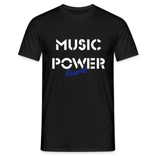 Old Skool Classic Music Power Tee Black White Blue - Men's T-Shirt