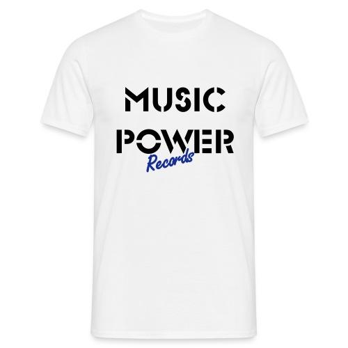 Old Skool Classic Music Power Tee White Black Blue - Men's T-Shirt