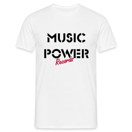 Old Skool Classic Music Power Tee White Black Red - Men's T-Shirt