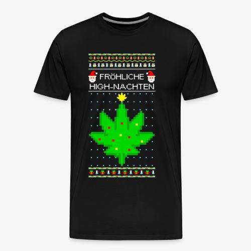 Männer Premium T-Shirt Highnachten Ugly Xmas - Männer Premium T-Shirt