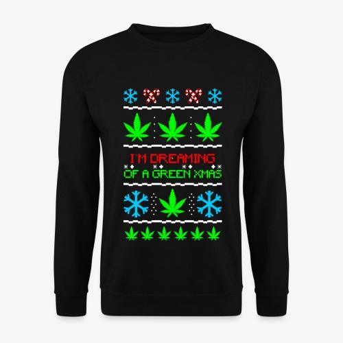 Männer Pullover Green Ugly Christmas Weed - Männer Pullover