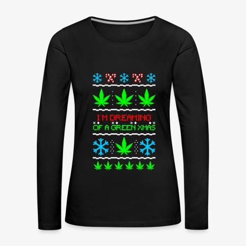 Frauen Premium Langarmshirt Green Ugly Christmas Weed - Frauen Premium Langarmshirt