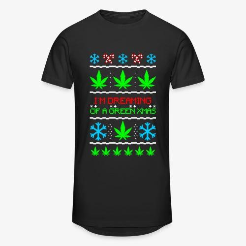 Männer Urban Longshirt Green Ugly Christmas Weed - Männer Urban Longshirt