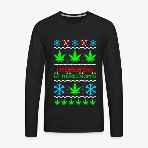 Männer Premium Langarmshirt Green Ugly Christmas Weed - Männer Premium Langarmshirt