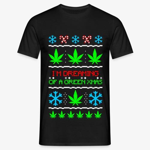 Männer T-Shirt Green Ugly Christmas Weed - Männer T-Shirt