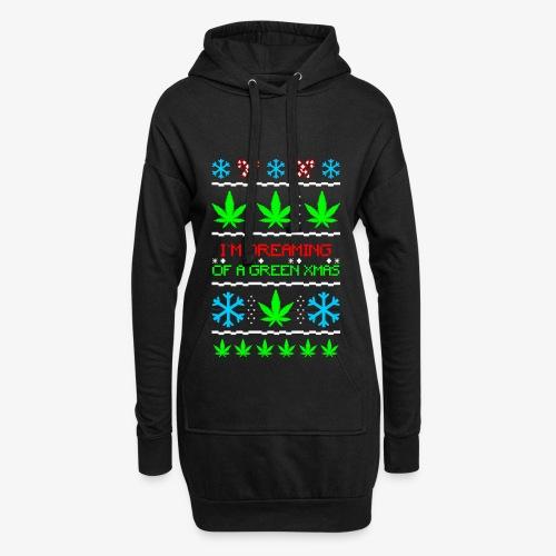 Hoodie-Kleid Green Ugly Christmas Weed - Hoodie-Kleid