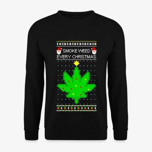 Männer Pullover smoke weed every xmas - Männer Pullover