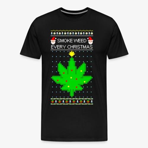 Männer Premium T-Shirt smoke weed every xmas - Männer Premium T-Shirt