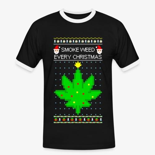 Männer Kontrast T-Shirt smoke weed every xmas - Männer Kontrast-T-Shirt