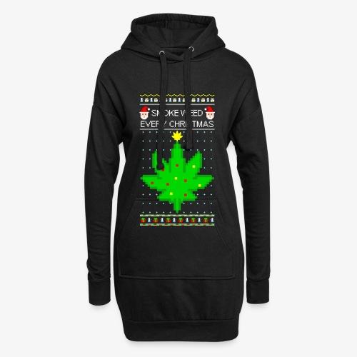 Hoodie-Kleid smoke weed every xmas - Hoodie-Kleid