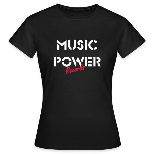Womens Old Skool Classic Music Power Tee Black White Red - Women's T-Shirt