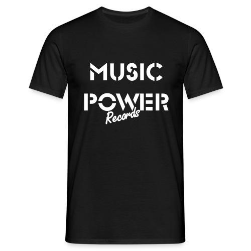Old Skool Classic Music Power Tee Black White - Men's T-Shirt