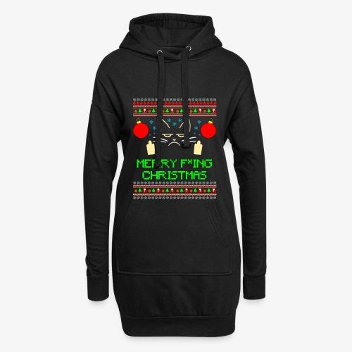 Hoodie-Kleid Merry Fucking Christmas - Hoodie-Kleid