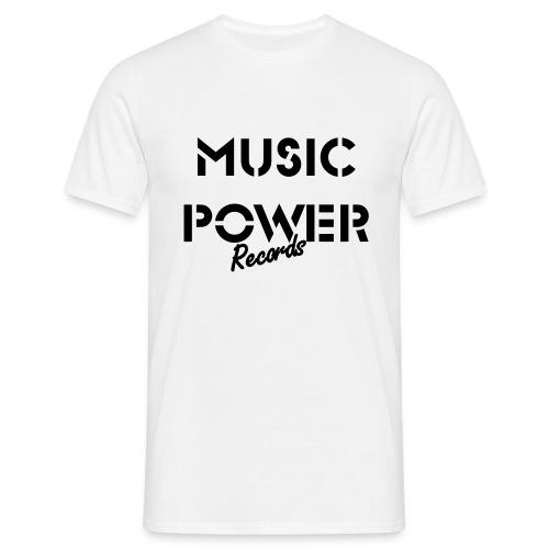 Old Skool Classic Music Power Tee White Black - Men's T-Shirt