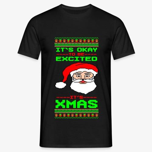 Männer T-Shirt Its Xmas Time Ugly - Männer T-Shirt