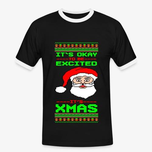Männer Konrast T-Shirt Its Xmas Time Ugly - Männer Kontrast-T-Shirt