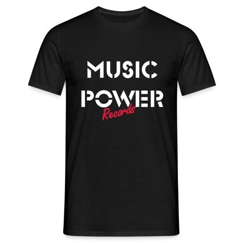 Old Skool Classic Music Power Tee White/Red - Men's T-Shirt