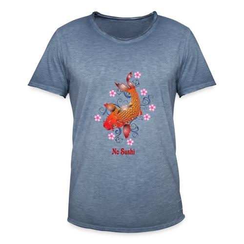T-Shirt mit Koi und Text No Sushi - Männer Vintage T-Shirt
