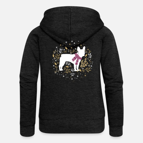 French Bulldog Winter - Frauen Premium Kapuzenjacke