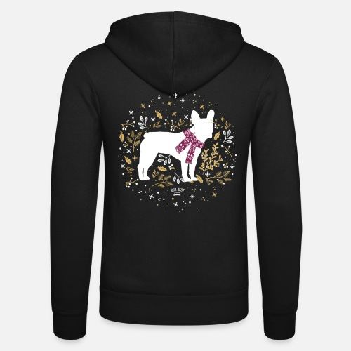 French Bulldog Winter - Unisex Kapuzenjacke von Bella + Canvas