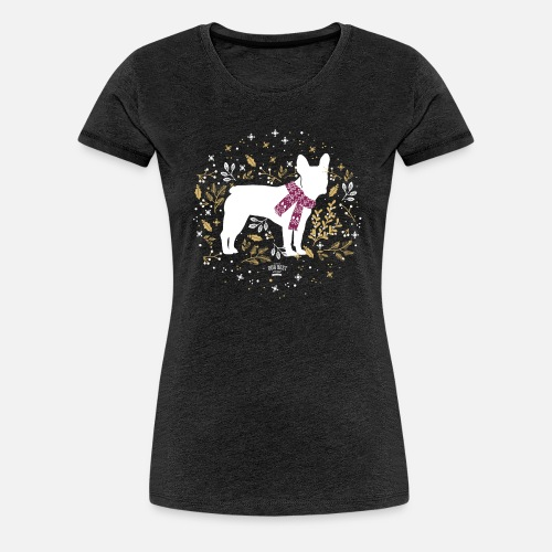French Bulldog Winter - Frauen Premium T-Shirt