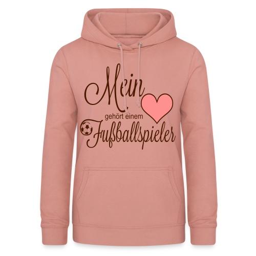 Mein Herz gehört einem Fußballspieler T-Shirts - Frauen Hoodie