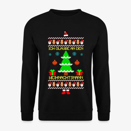 Männer Pullover Ich glaube an Nikolaus Ugly Christmas - Männer Pullover