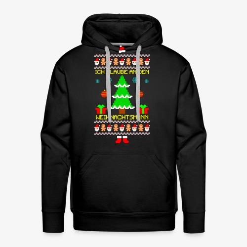 Männer Premium Hoodie Ich glaube an Nikolaus Ugly Christmas - Männer Premium Hoodie