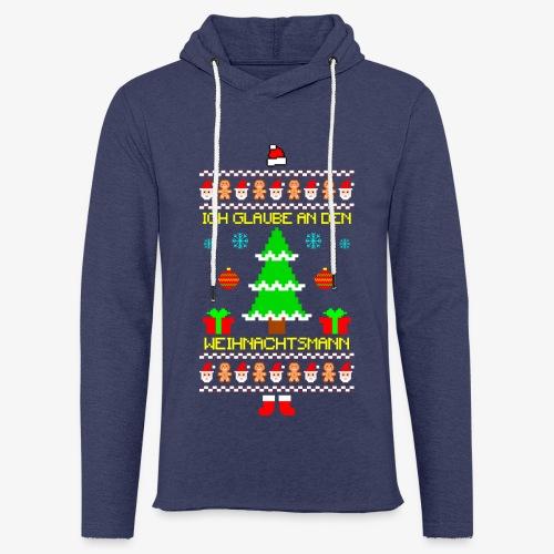 Leichtes Kapuzensweatshirt Unisex Ich glaube an Nikolaus Ugly Christmas - Leichtes Kapuzensweatshirt Unisex