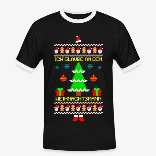 Männer Kontrast T-Shirt Ich glaube an Nikolaus Ugly Christmas - Männer Kontrast-T-Shirt