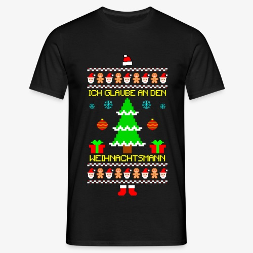 Männer T-Shirt Ich glaube an Nikolaus Ugly Christmas - Männer T-Shirt