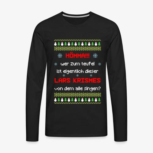 Männer Premium Langarmshirt lars krismes Ugly Christmas - Männer Premium Langarmshirt