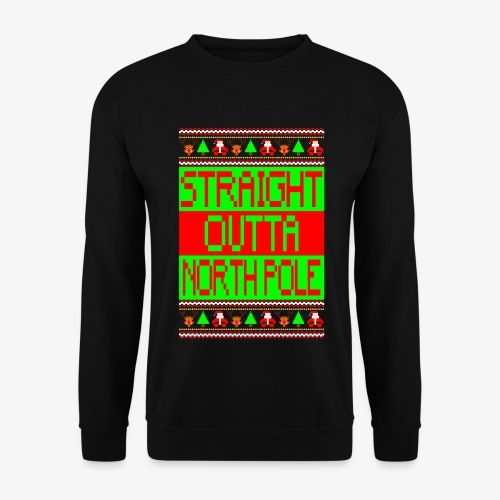 Männer Pullover straight outta Northpole ugly xmas - Männer Pullover
