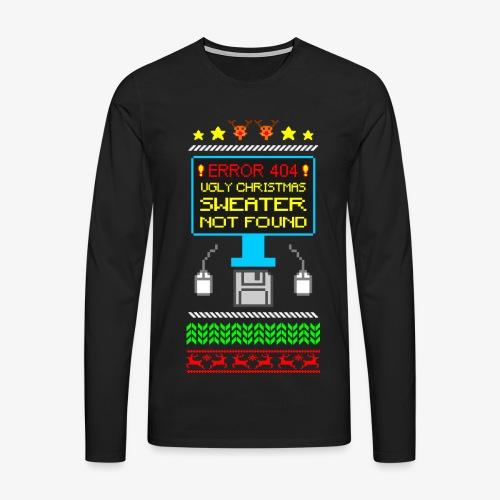 Männer Premium Langarmshirt Ugly christmas sweater not found - Männer Premium Langarmshirt