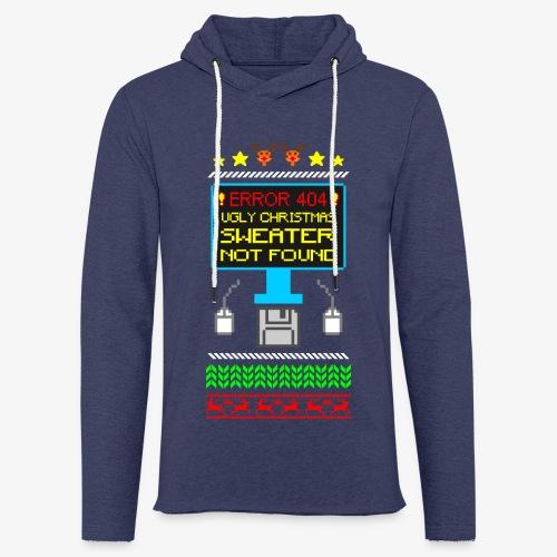 Leichtes Kapuzensweatshirt Unisex Ugly christmas sweater not found - Leichtes Kapuzensweatshirt Unisex