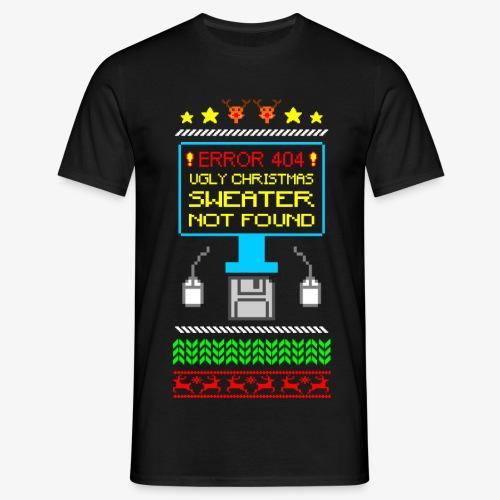 Männer T-Shirt Ugly christmas sweater not found - Männer T-Shirt