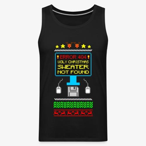Männer Premium Tank Top Ugly christmas sweater not found - Männer Premium Tank Top