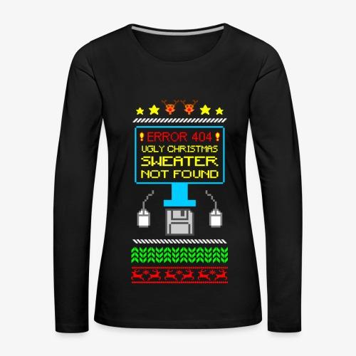 Frauen Premium Langarmshirt Ugly christmas sweater not found - Frauen Premium Langarmshirt