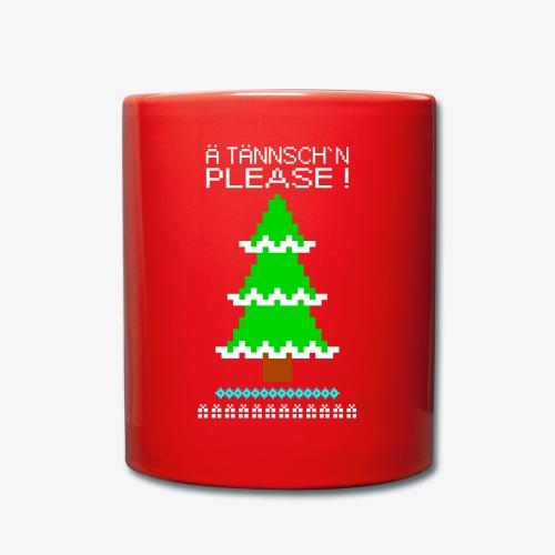 Tasse Ä tännschn´n please Ugly Christmas - Tasse einfarbig